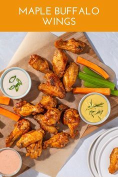 This classic appetizer gets a sweet sizzle with a touch of pure maple syrup from Canada. Blue Cheese Dressing, Ranch Dressing, Chicken Wings Spicy, Tandoori Chicken, Cayenne Pepper Sauce, Pure Maple Syrup, Buffalo Wings, Air Fryer Recipes