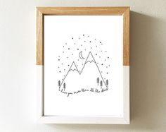 Don't wake the bear A4 8x10 Print Nursery by littlempapergoods
