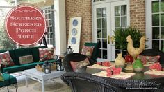 Southern Screened Porch {Our Home Tour}