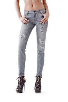 Mid-Rise Power Curvy Jeans in Create Wash | GUESS.com