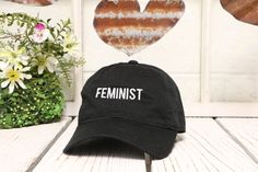 FEMINIST Baseball Hat Low Profile Embroidered by PrfctoLifestyle