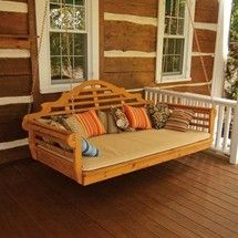 Red Cedar Swing Bed. Very relaxing way to spend a Summer afternoon.  Soooooo wish I had one!