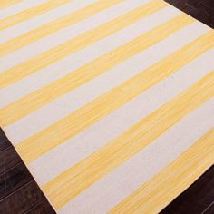 Yellow stripe rug