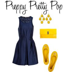 Yellow and Navy Fresh, created by lyf108 on Polyvore