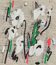 Amazing painting. Laura Owens, untitled