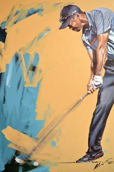 - tiger woods 10 putting tips. Golf Painting, Tiger Painting, Womens Golf Wear, Golf Pictures, Golf Images, Golf Putting Tips, Golf Art, Canvas Art, Canvas Prints