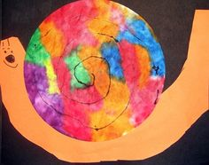 Tie Dye Snail art project! This would be another great use for those coffee filters!