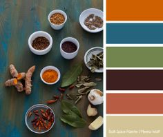 Balti Spice Palette. A color palette I made myself using one of my images.