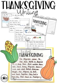 Thanksgiving Tab Book and Writing #thanksgivinglessons
