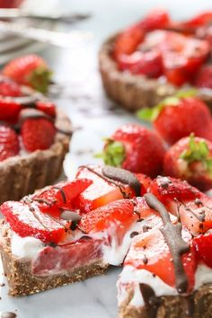 NO-BAKE MINI STRAWBERRY PIES. 18 Summer Desserts That Don't Require an Oven #purewow #easy #food #dessert #cake #baking #cookie #icecream #summer #easydesserts #nobake #nobakedesserts #summerdesserts #pies #strawberrypies