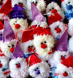 """Gnomes""thread & sintetic fabric  Size 15x7 Size 17x7 handmade by Nara Stepanyan"