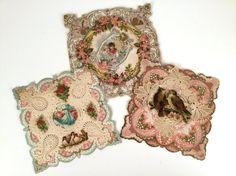 Vintage Edwardian Valentine Cards Set of 3 by iandrummondstash