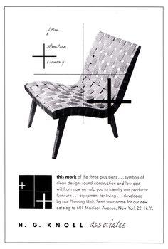 Knoll adverts by Alvin Lustig-http://decdesignecasa.blogspot.