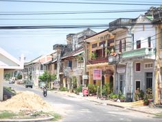 French colonial architecture in Kampot, Cambodia
