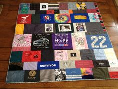 Memory quilt from clothes