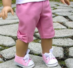 capri pants with side bow