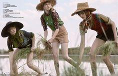 countryside: daniela, marta and simona by fabrizio scarpa for d'scene!   visual optimism; fashion editorials, shows, campaigns & more!