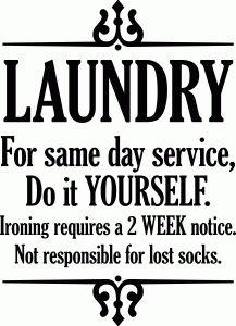 Silhouette Design Store - View Design #93065: laundry same day service