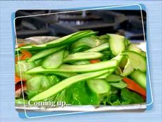 Sharon Glass' 'Food In A Flash' TV series Episode 1 of 13 - Weeknight Dinners Ron Glass, Flash Tv Series, Salad Dressing, Beef Recipes, Cucumber, Low Carb, Menu, Cooking Videos, Weeknight Dinners