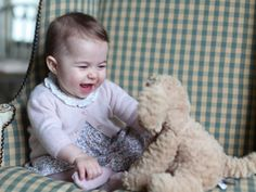Mum's girl ... The photos were taken by doting mum, the Duchess of Cambridge, at home in Norfolk.