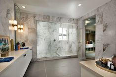 Inspired, bold, and modern - marble décor in your shower is a surefire way to create an elegant master bath. Toll Brothers, Surefire, Master Plan, New Homes For Sale, Master Bathroom, Luxury Homes, Design Trends, Marble, Modern Shower