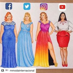 By @mmodainternacional #fashionillustration Beautiful #vestidos #ilustracion #moda #redessociales #socialmedia #fashion #illustration #instafashion #MModaIntl #fashionlovers