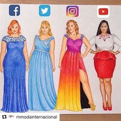 By @mmodainternacional #fashionillustration Beautiful #vestidos #ilustracion #moda #redessociales #socialmedia #fashion #illustration #instafashion #MModaIntl #fashionlovers