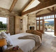 Gorgeous rustic master bedroom