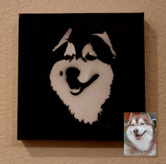 Customizable Pet Companion Spray Paintings on canvas by SprayedExpressions on Etsy, $39.00