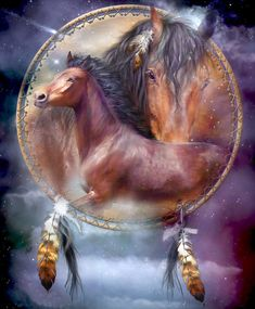 There's nothing better than horses and dreamcatchers. Such a beautiful diamond painting kit. Take this diamond painting home today and when you're done you can hang it anywhere in the house. It's a great gift idea too. American Indian Art, Native American Art, Cute Horses, Beautiful Horses, Dream Catcher Art, Indian Horses, Native American Pictures, Arte Tribal, Power Animal