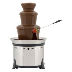 "Sephra Classic Home Fondue Fountain 18"" - Stainless at Target.  No oil needed, just melt chocolate, got good reviews online.  Need this for parties!  $100.00"
