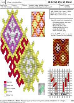 A stitch out of time Broderie Bargello, Bargello Needlepoint, Needlepoint Stitches, Embroidery Stitches, Embroidery Patterns, Stitch Patterns, Needlework, Card Weaving, Tablet Weaving