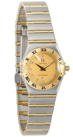 Omega Womens 12621500 Constellation Quartz Mini TwoTone Watch -- Read more reviews of the product by visiting the link on the image.