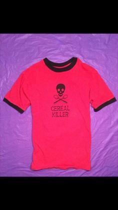 Funny Shirt Cereal Killer shirt size Medium in T-Shirts   eBay #cerealkillershirt #cereal #serialkiller #serialklershirt #funnyshirts #funnytshirts #hipstershirts #coolshirts #skullshirt #funny