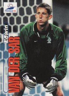 1998 Panini World Cup #9 Edwin Van Der Sar  Front