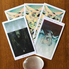 8/1/16: Death reversed and Three of Swords reversed.  With both of these cards that often carry heavy implication, in their reversed positions many of us are experiencing a sense of release and acceptance. We are coming up on the new moon in 2 nights, which means we are in the dark moon right now--a time of quiet reconciliation, healing and even mourning. The monthly Tarot forecast that I'll post later today reveals that transformation is a huge theme for many of us right now. Big changes...