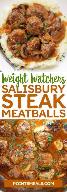 WEIGHT WATCHERS SALISBURY STEAK MEATBALLS RECIPE