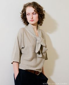 Pure & Simple Handmade Linen Top With beautiful Linen Scarf