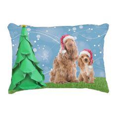 Cocker Spaniel Christmas pillow
