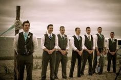 gray groomsmen