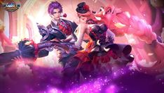 Gusion Dangerous Laison and Lesley Dangerous Love Valentine's Day Special Skin Full Wallpaper Mobile Legend Wallpaper, Hero Wallpaper, Valentine Day Special, Love Valentines, Game Character, Character Design, Miya Mobile Legends, Alucard Mobile Legends, Moba Legends