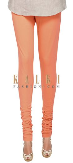 Buy Online from the link below. We ship worldwide (Free Shipping over US$100) Price- $9 Click Anywhere to Tag http://www.kalkifashion.com/peach-cotton-hosiery-legging-only-on-kalki-21434.html