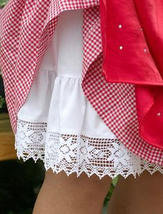 Strawberry Summer, White Cottage, Red Gingham, Red Riding Hood, Red Apple, Little Red, Traditional Dresses, Lady In Red, Favorite Color