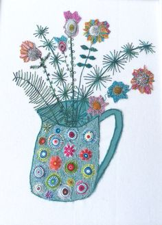 Machine embroidery, appliqué by Bev Holmes-Wright