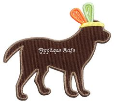 678 Indian Dog Machine Embroidery Applique by AppliqueCafeDesigns, $4.00
