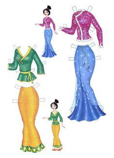 Mulan Paper Doll   Disney Princess Mulan Free Printables, Downloads and Activities   SKGaleana