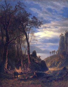 Albert Bierstadt - Campfire