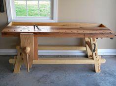 Lake Erie Toolworks, Moravian Workbench, Leg Vise, Wooden Leg Vise