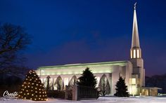 Preston, England LDS Temple at Christmas time. Found at: http://on.fb.me/uMwxJs