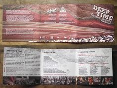 Deep Time exhibition leaflet